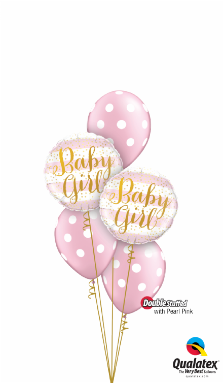 Baby Girl Pink Stripes Classic Bouquet
